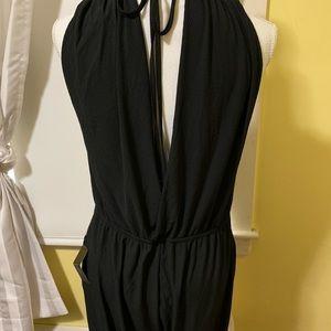 Lulus black wide leg jumpsuit NWT